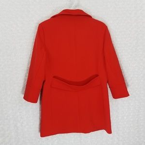 Carmen Marc Valvo Jackets & Coats - CARMEN MARC VALVO Red/Orange Long Coat